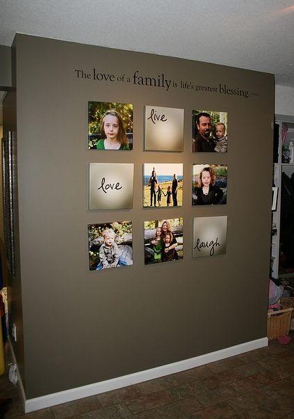 fotografias na parede