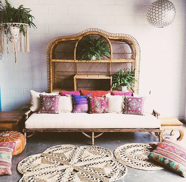 Recline on Rattan Beds...