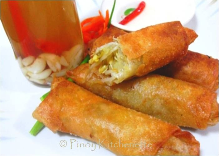 Lumpiang Togue (Vegetable Spring Rolls)