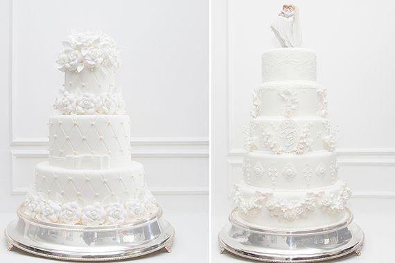 Bolos clássicos de Casamento, três e cinco andares. - Piece of Cake