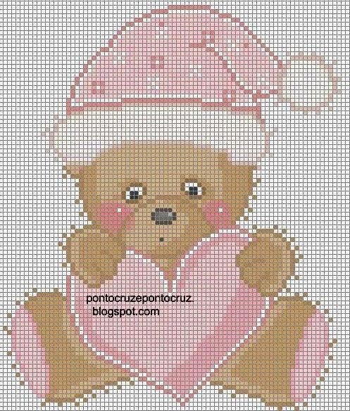 cute bear with valentine heart