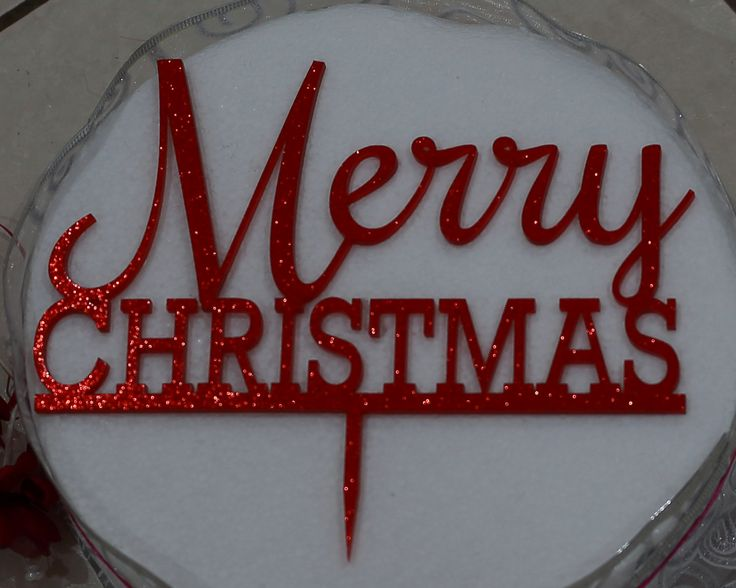 Merry Christmas Acrylic Cake Topper - Free Postage by LaserInnovationsAust on Etsy