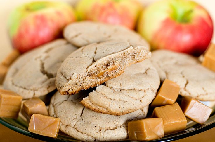WHAT IN THE HECK Caramel Apple Cider Cookies {recipe}