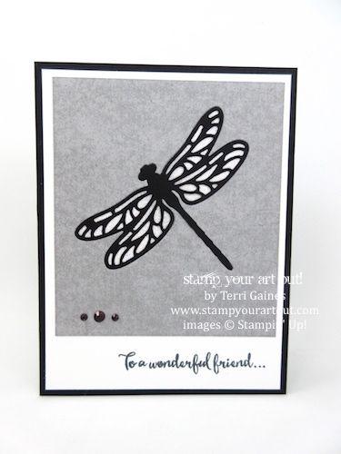 Glitter venster Gedetailleerde Dragonfly card (zelfstudie Bundle Design Team februari 2017 Blog Hop) ... # stampyourartout - Stampin 'Up ® - Stempel Uw Art Out!  www.stampyourartout.com