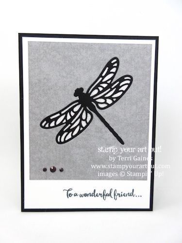 Glitter window Detailed Dragonfly card (Tutorial Bundle Design Team February 2017 Blog Hop)…#stampyourartout - Stampin' Up!®️️ - Stamp Your Art Out! www.stampyourartout.com
