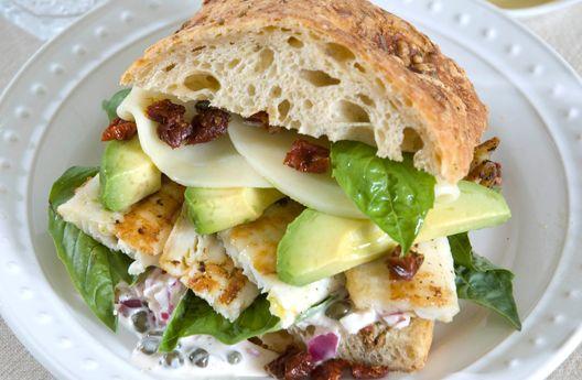 Dockside Halibut Sandwich   Recipes & Tips   Mezzetta.com   Don't Forgetta Mezzetta
