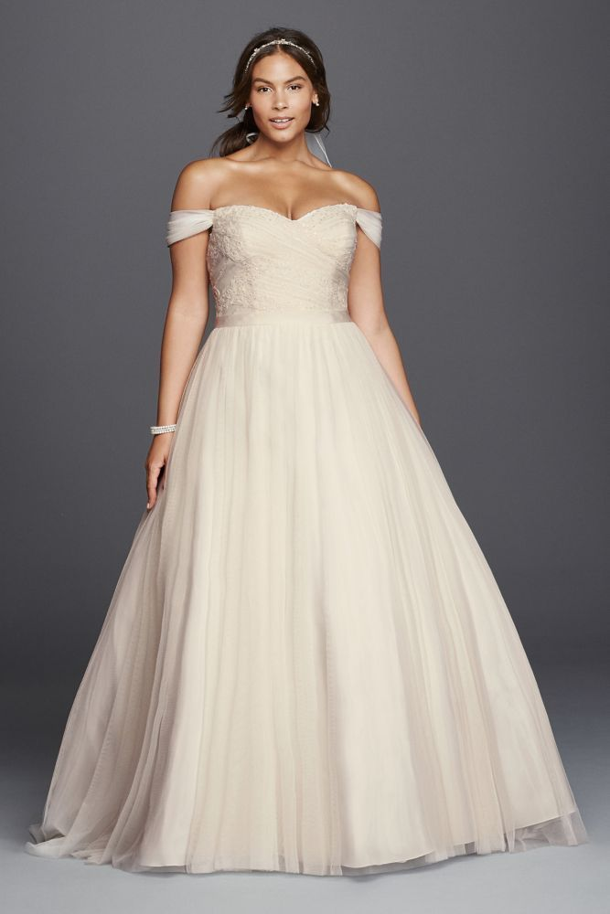 As-Is Satin Plus Size Wedding Dress with Beading Style AI13030002