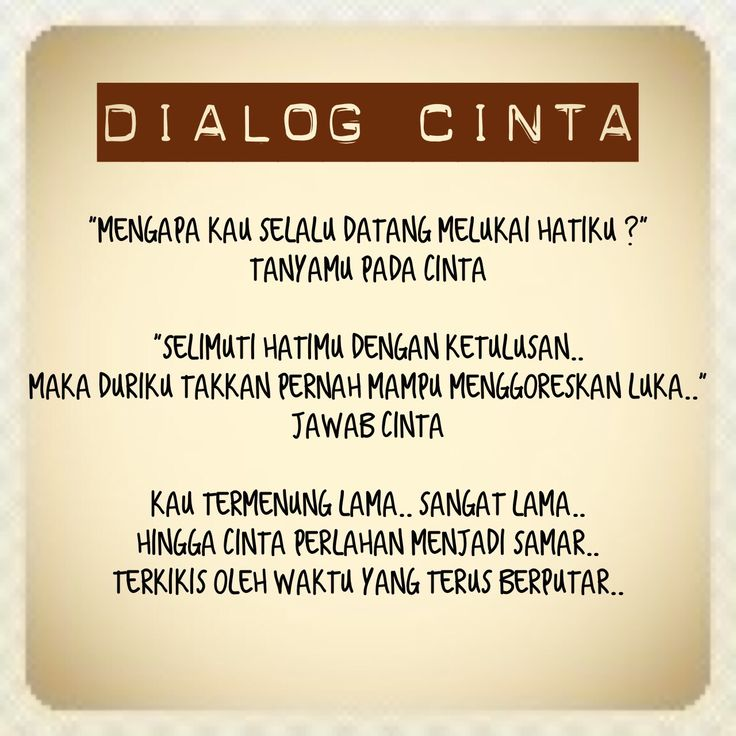 puisi Dialog Cinta