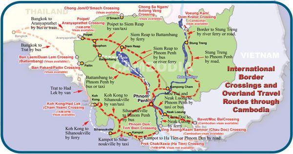 map of road via poipet