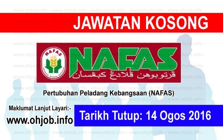 """Jawatan Kosong Pertubuhan Peladang Kebangsaan (NAFAS) (14 Ogos 2016)   Kerja Kosong Pertubuhan Peladang Kebangsaan (NAFAS)  Permohonan adalah dipelawa kepada warganegara Malaysia bagi mengisi kekosongan jawatan di Pertubuhan Peladang Kebangsaan (NAFAS) seperti berikut:-  1. MECHANIC  MUAT TURUN SYARAT KELAYAKAN Dan permohonan online DESKRIPSI KERJA  Calon perlu mempunyai sekurang-kurangnya a / Sekolah Menengah / SPM / """"O"""" Level Utama Higher Secondary / STPM / """"A"""" Level / Pra-U Sijil…"""