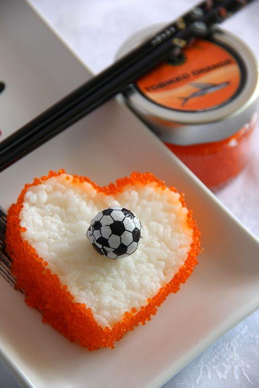 ♥ Oranje en sushi ............! #WK2014