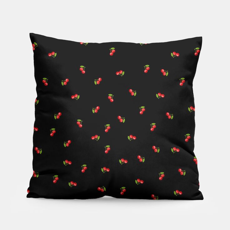 Dark Delicate Cherry Pillow, Live Heroes