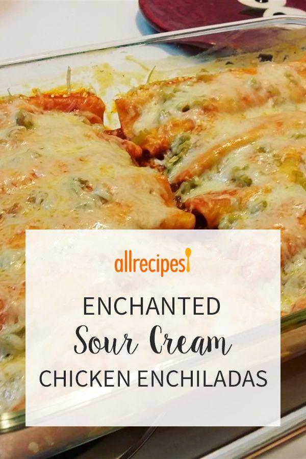 Enchanted Sour Cream Chicken Enchiladas Recipe Sour Cream Chicken Enchiladas Sour Cream Enchiladas