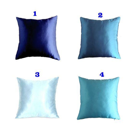 Blue Pillow Case Blue Couch Pillows Blue от AnnushkaHomeDecor