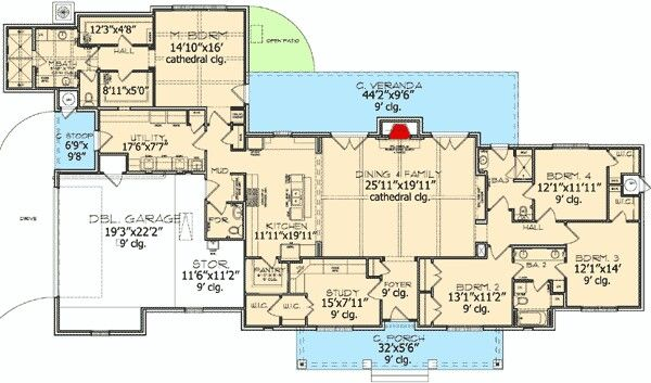 1000 images about future dream home third times the charm for Country ranch floor plans