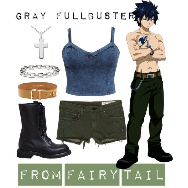 [Fairy Tail] Gray Fullbuster by kristent981 on Polyvore featuring H&M, rag & bone/JEAN, Rick Owens, Blue Nile, Coach and Linea Pelle