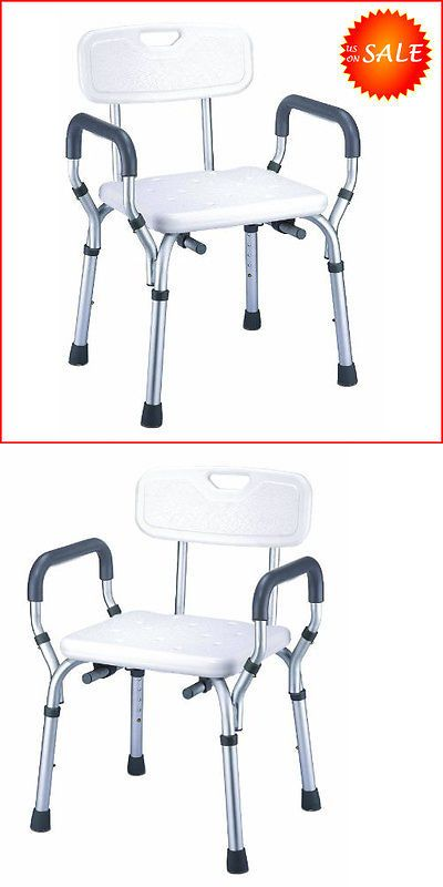 Other Accessibility Fixtures: Safety Elderly Shower Chair Seat Bathroom Bench Toilet Stool Bath Tub Handicap BUY IT NOW ONLY: $80.64