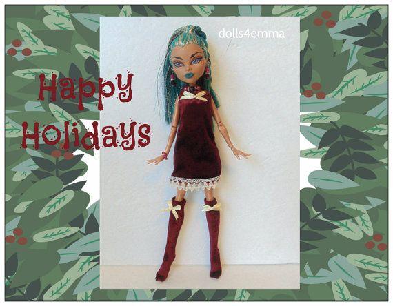 NEFERA Monster High Doll kleding - vakantie jurk, sokken en sieraden - Custom mode door dolls4emma