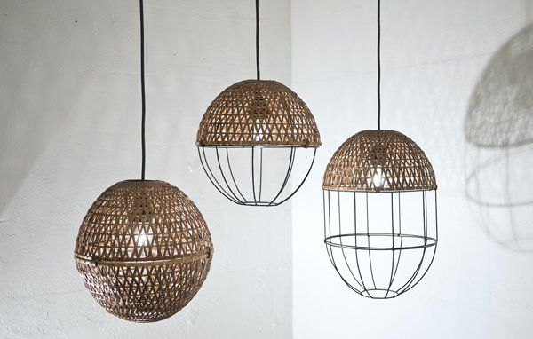 Studio Ljung and Ljung (Martin Hedenström Ljung and Greta Ljung)  POP is a series of lampshades hand-made of bamboo and metal together with the  non-profit organization Sop Moei Arts in Chiang Mai. The lampshades are divided in to modules that can be assembled in various ways.