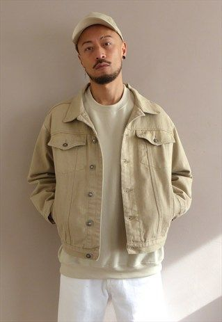 New+Relaxed+90s+Fit+Denim+Jacket+in+Sand+Beige