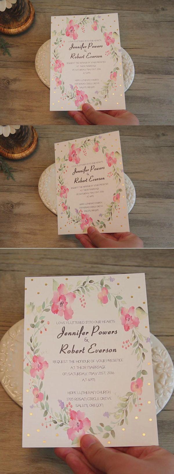 84 Best Gold Foil Wedding Invitations Images On Pinterest