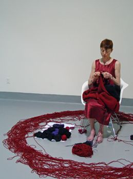 Rachel Gomme knit performance art