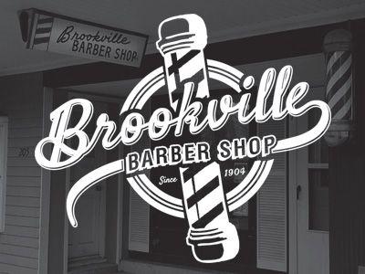 Dribbble - Brookville Barber Shop Logo by Nate Stevens