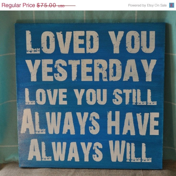 Spring Sale Loved You Yesterday Unique Art by everlastingdoodle, $56.25