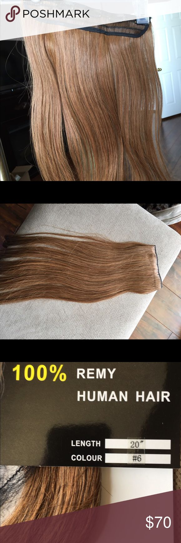 Brunette Clip in Remy Hair Extensions These real Human Hair Extensions will give you the full hair you desire. They are 20 in and easy to Clip in and go! Accessories Hair Accessories