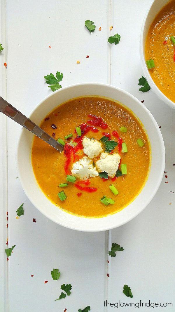 curried cauliflower soup vegen recipes gf recipes recipes soups ...