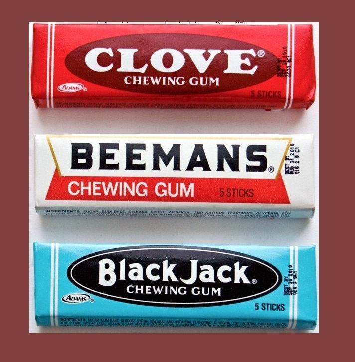 Blackjack beemans and clove gum