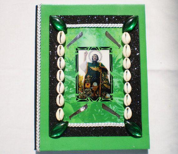 Oggun Ogun Orishas Decorated Notebook for Ita  by OshaDesigns