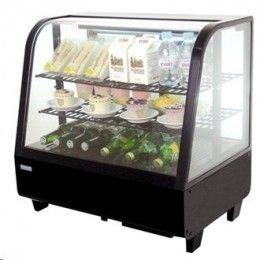Vitrina frigorífica sobre mostrador. Laterales de vidrio y puertas traseras desllizantes. Desescarche automático. Sin CFC. http://www.ilvo.es/es/product/vitrinas-frias-sobre-mostrador