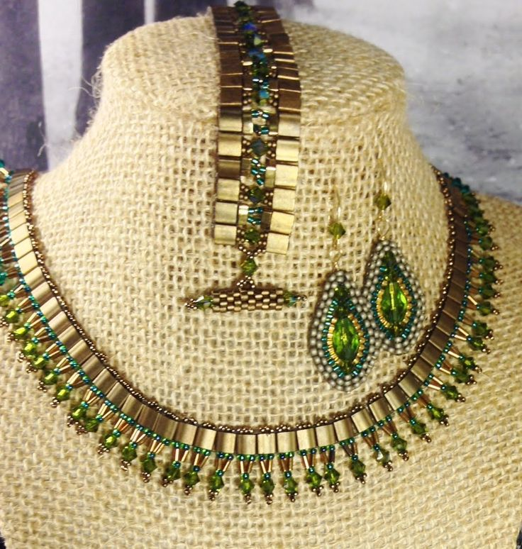 Spring Fling Cleopatra Necklace   ~ Seed Bead Tutorials