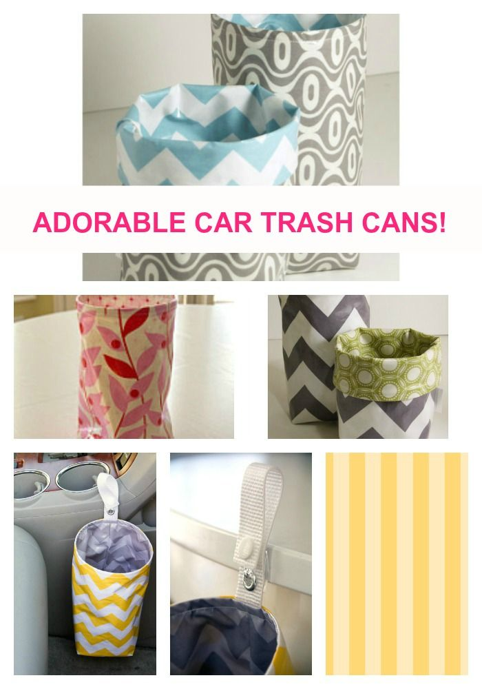 car trash can; organize; organization; organizing; organization diy; etsy; handmade