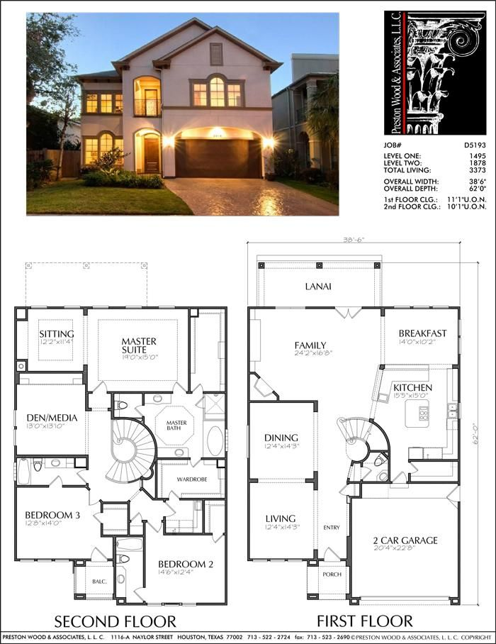 Two Story House Plan D5193 House Layout Plans House Blueprints Two Story House Plans