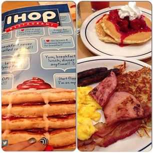 "See the full Ihop Menu with prices below, including the famous Ihop Breakfast menu, Lunch and Dinner Menu, plus information on the best Ihop specials and deals, like the popular ""Ihop Kids Eat Free"", and the ""Ihop Free Pancakes"" promotions."