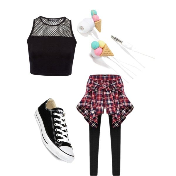 Dance practice outfit by amariluvv on Polyvore featuring Converse and Forever 21