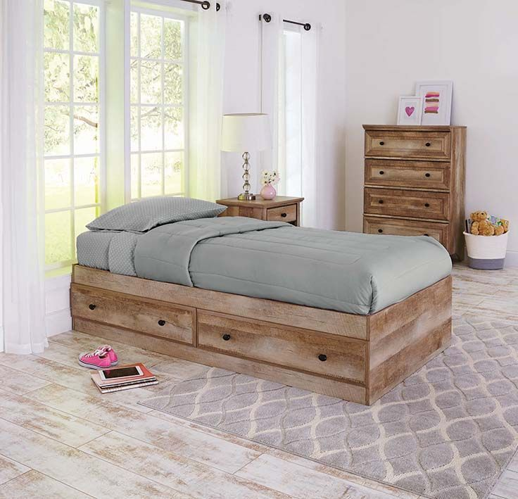 Delightful Better Homes And Gardens Crossmill Mates Bed, Weathered Photo
