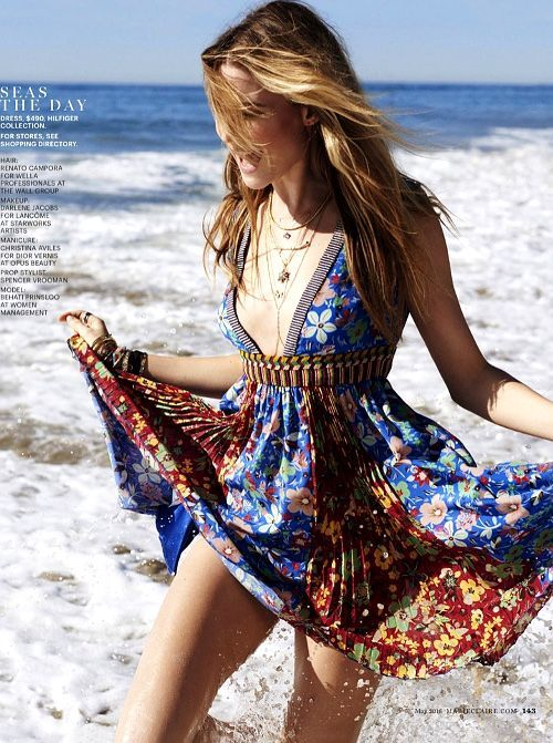 Shop women beach party outfit online UK, free personalized fashion style advice, Topshop dress, jumpsuit, Guess, Valentino, boho floral
