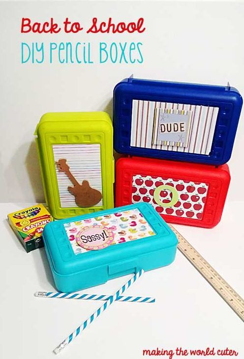 DIY Pencil Boxes by @Tiffany Hewlett {Making The World Cuter} #Michaelsbts
