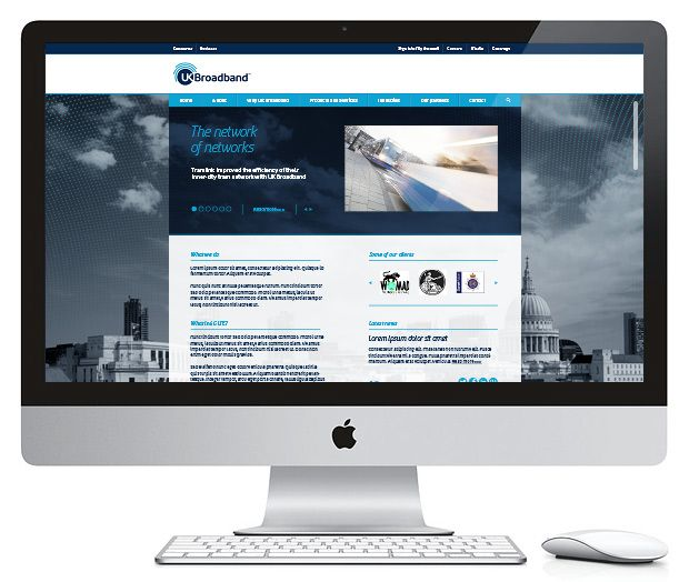 UK Broadband - Brand Refresh - Website Concept