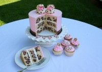 Leopard Print Baby Shower Cake. Oh, so cute!