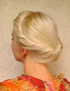 The Gibson Tuck was an incredibly popular hair style in the 1890's. I love it because it keeps my hair out of the way for waitressing and stall mucking.
