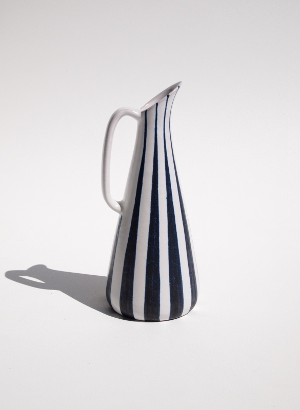 Retro Hoganas Striped Pitcher