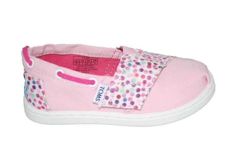 Πάνινο #Toms ροζ, με αυτοκόλλητο κούμπωμα & δερμάτινο πάτο. www.mouyer.gr/store/products/collections/season2015S/itemA17037-5100-26