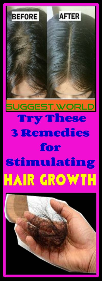 Try These 3 Remedies for Stimulating Hair Growth #Hair #growth #remedies