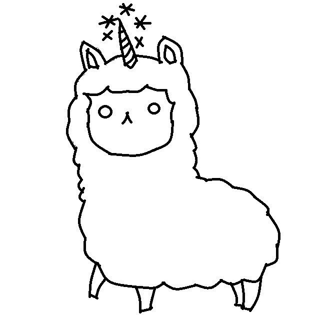 alpaca coloring pages for kids - photo#24