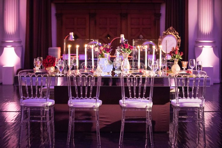 Church ceremony modern mirrors and purple gold on pinterest