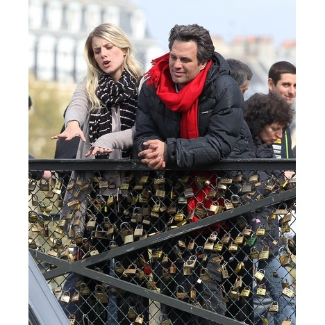 "Mark Ruffalo and Melanie Laruent shot a scene for their film, ""Now You See Me"" in Paris."